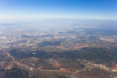 Aerial view of Kunming, China. Royalty Free Stock Image