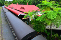 Aerial view of Kuranda Train Station in Queenland Australia Royalty Free Stock Photography