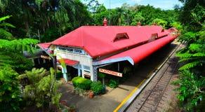 Aerial view of Kuranda Train Station in Queenland Australia Royalty Free Stock Image