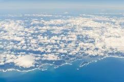 Aerial view of kushima miyazaki japan royalty free stock photography