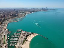 Aerial View Of Kuwait`s Beautiful Seaside Coast Stock Image