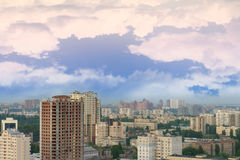 Aerial view on Kyiv, Ukraine Royalty Free Stock Images