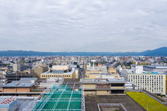 Aerial view of Kyoto city with sky Royalty Free Stock Image