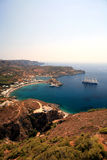 Aerial view of Kythira harbor in Greece Royalty Free Stock Image