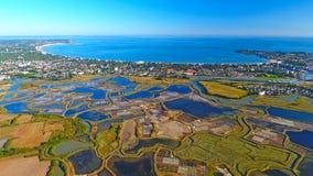 Aerial photo of La Baule Escoublac bay Stock Image