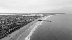 Aerial view of La Jolla Beach, California.  royalty free stock photo