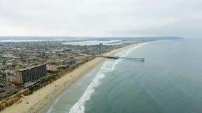 Aerial view of La Jolla Beach, California Stock Images