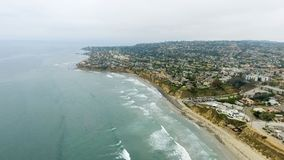 Aerial view of La Jolla Beach, California.  stock photography