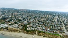 Aerial view of La Jolla Beach, California.  royalty free stock images