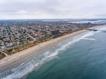 Aerial view of La Jolla Palisades park, San Diego, CA royalty free stock images