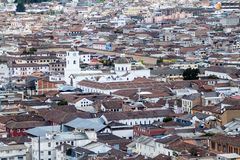La Merced Church in Quito, Ecuador. Aerial view of La Merced Church Iglesia de la Merced in Quito, Ecuador royalty free stock photo