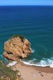Aerial view of La Roca Roja beach in La Costa Brava region. Stock Photo