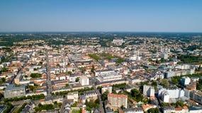 Aerial view of La Roche sur Yon city centre stock photos