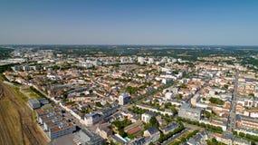 Aerial view of La Roche sur Yon city centre stock images