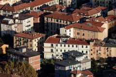 Aerial view of la spezia. A beautiful town in italy royalty free stock photo