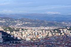 Aerial view of la spezia. A beautiful town in italy stock photo