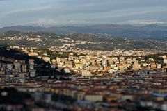 Aerial view of la spezia. A beautiful town in italy stock image