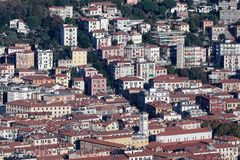 aerial view of la spezia stock photos