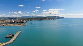 Aerial view of La Spezia, Italy.  royalty free stock image