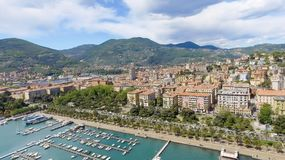 Aerial view of La Spezia, Italy.  royalty free stock images