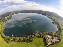 Aerial view on Laacher See Stock Image
