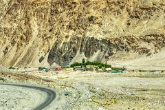 Aerial view of ladakh landscape Royalty Free Stock Photos