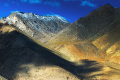 Aerial view of ladakh landscape Royalty Free Stock Photo