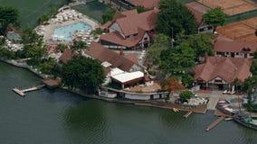 Aerial View of Lago de Rodrigo Freitas Lagoon. Rio de Janeiro, Brazil stock photos