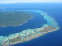 Aerial view on lagoon, French Polynesia Royalty Free Stock Photos