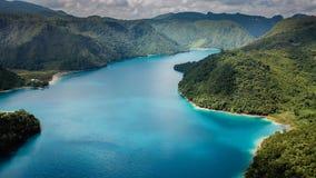 Free Aerial View: Laguna Brava Or Yolnabaj Lake In Guatemala Royalty Free Stock Image - 162791096