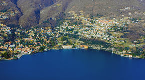 Aerial view of a lake Stock Photography