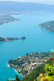 Aerial view of Lake Annecy Stock Photography