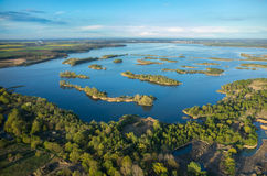 Aerial view on the lake Stock Image