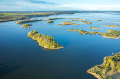 Aerial view on the lake Stock Photos