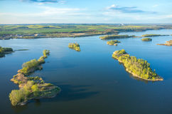 Aerial view on the lake Royalty Free Stock Photography