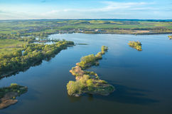 Aerial view on the lake Royalty Free Stock Photo