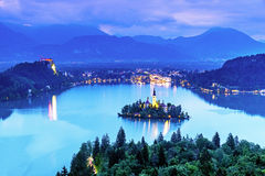 Aerial view of lake bled Stock Image