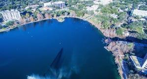 Aerial view of Lake Eola in Orlando, Florida stock image