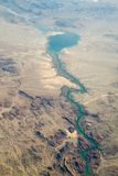 Aerial view of Lake Havasu. An aerial view of Lake Havasu and the Colorado River in Arizona Stock Photography