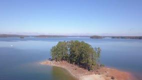 Aerial view of lake Lanier Georgia stock footage