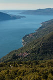 Aerial view of lake Maggiore Stock Photography