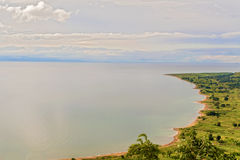 Aerial view at the lake Malawi Royalty Free Stock Photography