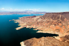 Aerial view of Lake Mead stock photo