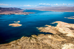 Aerial view of Lake Mead Royalty Free Stock Photo