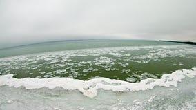 Aerial view of lake michigan at acme roadside park Stock Photos