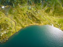 Aerial view. Lake in mountains Norway royalty free stock photography
