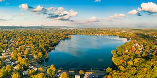 Aerial view of Lake Parsippany, stock images