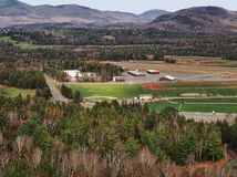 Aerial view of Lake Placid suburbs Royalty Free Stock Photography