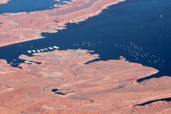 Aerial View of Lake Powell Stock Image