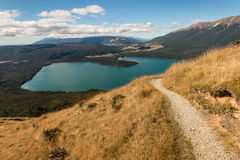 Aerial view of lake Rotoiti in Nelson Lakes National Park Stock Images